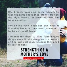 She bravely wakes up every morning to face the same chaos that left her drained the night before, because they need her to be a… The Night Before, Need Someone, Her Smile, Mom And Dad, Wake Up, Poetry, Inspirational Quotes, Faith, Teaching