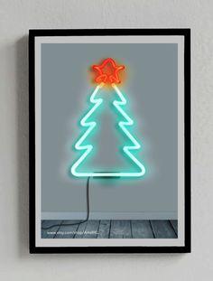 Christmas Tree Neon Poster  You can get it at: https://www.etsy.com/es/listing/209221835/arbol-de-navidad-senal-neon-poster?ref=shop_home_active_11