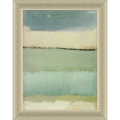 """Decorative Arts International Noon I by Caroline Gold Wall Art - 28"""" x 22""""  (without the frame. reminds me of the beach!!)"""