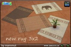 3x2 Africa rugs by mammut at Blacky's Sims Zoo via Sims 4 Updates