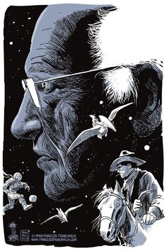 "rip jean girard x francesco francavilla.  ""moebius isn't gone. he's just looped back to the beginning to start over. he is, and will be, forever."" - Kurt Busiek"