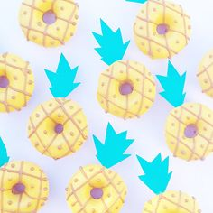 Pineapple donuts by