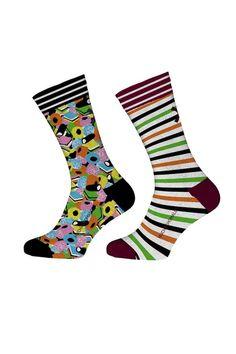 Muchachomalo sokken voor jongens English, blauw