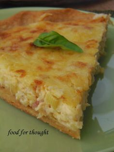 Food for thought Cookie Dough Pie, Savory Tart, Greek Recipes, Food For Thought, Quiche, Bacon, Brunch, Food And Drink, Appetizers