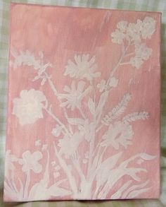 Floral Silhouette Canvas Art With FREE Valentine's Day Gift on Etsy, $5.00