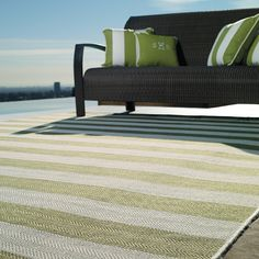 Resort Stripe Outdoor Area Rug