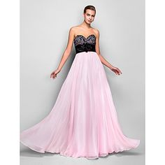 Bridesmaids (3) A-line Sweetheart Natural Floor-length Chiffon Evening/Prom Dress(759804) – USD $ 88.49