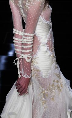 """""""Sorry I can't come to the phone right now, I'm a little tied up with this whole wedding business..."""" Samuel Cirnansck, Summer 2012 show at Sao Paolo Fashion Week."""