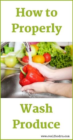How to Properly Wash Produce - Knowing how to properly wash your fresh produce is more important than you might think. Avoid getting food poisoning and ingesting farming chemicals by washing your fruits & veggies the right way. Fruit And Vegetable Wash, How To Wash Vegetables, Fresh Fruits And Vegetables, Healthy Cooking, Cooking Tips, Healthy Eating, Agriculture, Farming, Organic Recipes