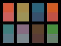 """Josef Albers """"Interaction of color"""". Warm und kalte Farbtöne."""