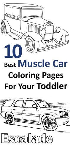 Does your little boy go go-ga over cars? Want to provide him amazing experience of vintage cars? Then, here we have free printable muscle car coloring pages
