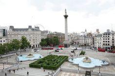 Trafalgar square Londen, met de zuil van Nelson