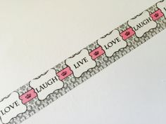 Live Love Laugh Washi Tape Samples By The Yard by GoatGirlMH on Etsy