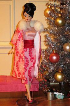 Glamorous Barbie Go, Play Barbie, Vintage Barbie Dolls, Barbie World, Barbie Dress, Barbie Clothes, Barbie Outfits, Christmas Barbie, Pink Christmas