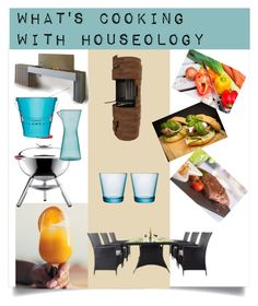 """""""Houseology - what's cooking outdoors"""" by shistyle ❤ liked on Polyvore featuring interior, interiors, interior design, home, home decor, interior decorating, Sagaform, dining, outdoors and Houseology"""