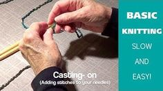 Kristen teaches how to cast on needles to knit. Learn how to knit in this Beginner's series. Learn how to knit in this beginners knitting series on basic nee. Knitting Basics, Knitting Videos, Crochet Videos, Knitting For Beginners, Knitting Projects, Knitting Tutorials, Crochet Projects, Circular Knitting Needles, Knitting Stitches