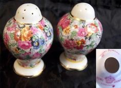 Royal Albert Old Country Roses Chintz Collection Salt and Pepper Shaker Set