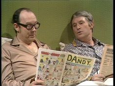 Morecambe and Wise - it never occurred to us that it might be unusual for two fully grown straight men to share a double bed :D 1970s Childhood, My Childhood Memories, English Comedy, Comedy Actors, Morecambe, Classic Comedies, Television Program, Vintage Tv, The Old Days