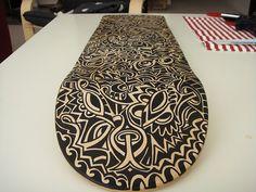 Zentangle longboard design