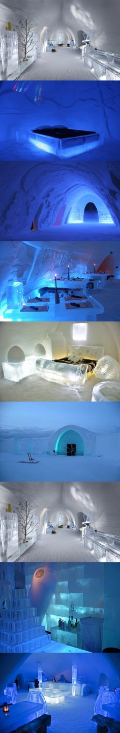 Stay in an ice hotel, Finland Places Around The World, Travel Around The World, Around The Worlds, Places To Travel, Places To See, Underwater Hotel, Ice Hotel, Ice Art, Wars Of The Roses