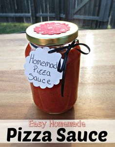 Easy Homemade Pizza Sauce. This one is a keeper!! Both Cristian and I really loved this. Delicious and simple