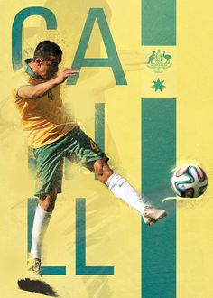 WorldCup Goal Posters on Behance : Tim Cahill Australia