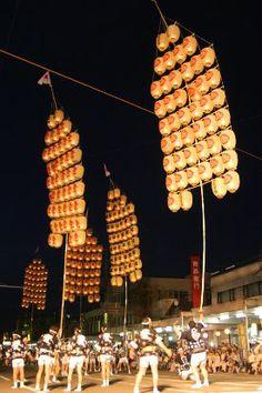秋田竿灯祭り Akita Japan