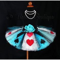 Tutu - Alice of Hearts - A Tiara's Boutique Original Design - Custom... ($54) ❤ liked on Polyvore