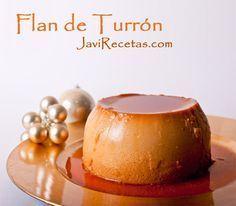 Receta de flan de Turrón,con receta.