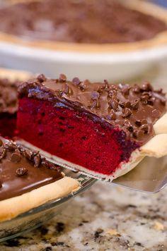 Torta de terciopelo rojo Pie de SeededAtTheTable.com