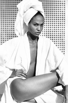 Joan Smalls photographed by Mario Testino