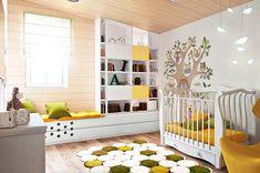 erkek çocuk oda dekorasyon sarı/kahverengi/beyaz