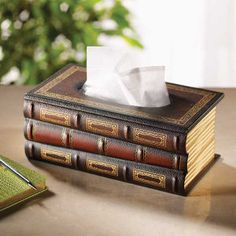 Bibliophiles Tissue Dispenser - Furniture, Home Decor and Home Furnishings, Home Accessories and Gifts | Expressions