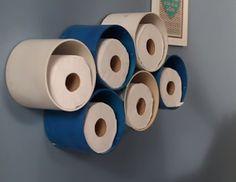 PVC PASSO A PASSO: Porta-papel higiênico com tubo PVC