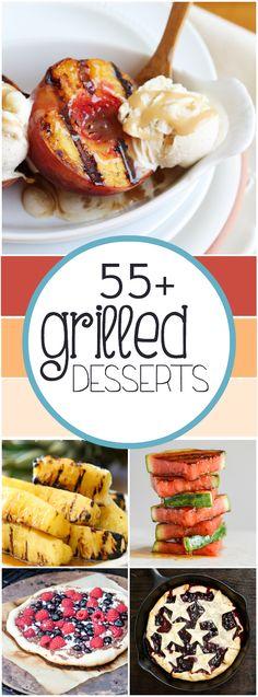 55+ Grilled Desserts | www.somethingswanky.com