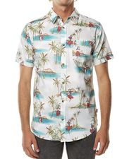 RIP CURL PALM PARADISE SS SHIRT - STONE on http://www.surfstitch.com