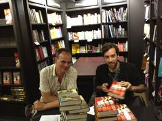 Jake Arnott and Ned Beauman signing their fantastic books 'The House of Rumour' and 'The Teleportation Accident' for us. 26th July 2012