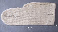 Neulottu tossu ennen huovutusta Crochet Socks, Knitting Socks, Knit Crochet, Diy And Crafts, Handmade, Felting, Crocheting, Villa, Google