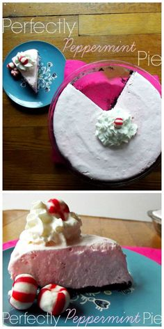 Perfectly Peppermint Pie www.lifewiththecr... #peppermint #pie #icecream