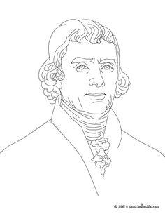 President THOMAS JEFFERSON Coloring Page