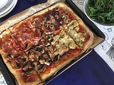 pizza z kvasku Pitta, Pepperoni, Vegetable Pizza, Vegetables, Brot, Vegetable Recipes, Pies, Veggies