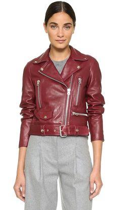 Acne Studios Mock Leather Moto Jacket | SHOPBOP