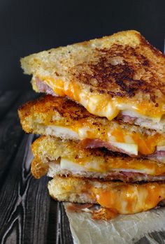 prosciutto, apple, gruyere grilled cheese
