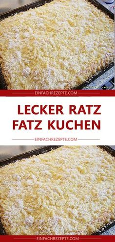 Lecker Ratz Fatz Kuchen - New Site