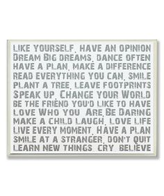 This 'Like Yourself' Inspirational Typography Wall Art by Stupell Industries is perfect! #zulilyfinds
