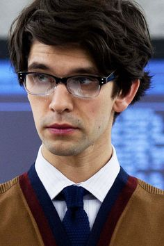 "Ben Whishaw portrays the new Quartermaster Q in the Bond movie ""Skyfall""....."