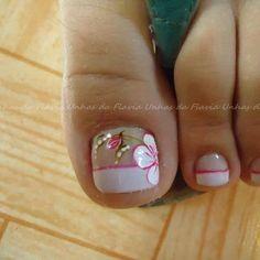 Pedicure Designs, Toe Nail Designs, French Pedicure, Bling Nails, Toe Nails, Nails Inspiration, Nail Art, Beauty, Nail Ideas