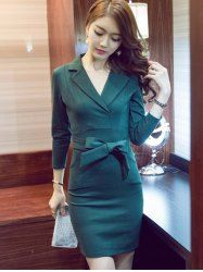 SHARE & Get it FREE | Tied Belt Back Slit Pencil DressFor Fashion Lovers only:80,000+ Items • New Arrivals Daily • Affordable Casual to Chic for Every Occasion Join Sammydress: Get YOUR $50 NOW!