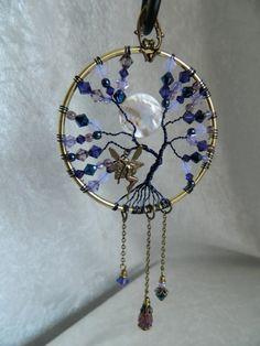 ENCHANTED FAIRY TREE - Swarovski crystal Tree of Life Suncatcher Dreamcatcher Mooncatcher by Crow Haven Road