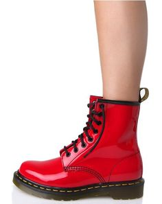 Red Patent 1460 8 Eye Boots